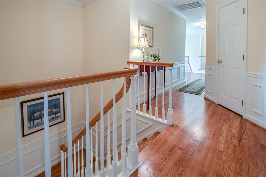 Real Estate Photography - 833 Westridge Dr, Hockessin, DE, 19707 - Spacious Upstairs Hall And Back Staircase!