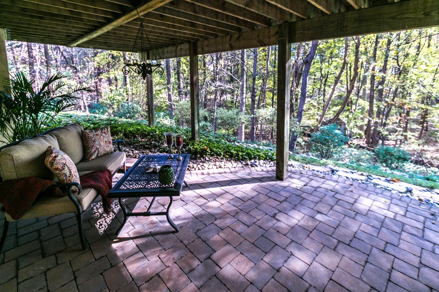 Real Estate Photography - 833 Westridge Dr, Hockessin, DE, 19707 - Lower Level Patio - So Private And Peaceful!
