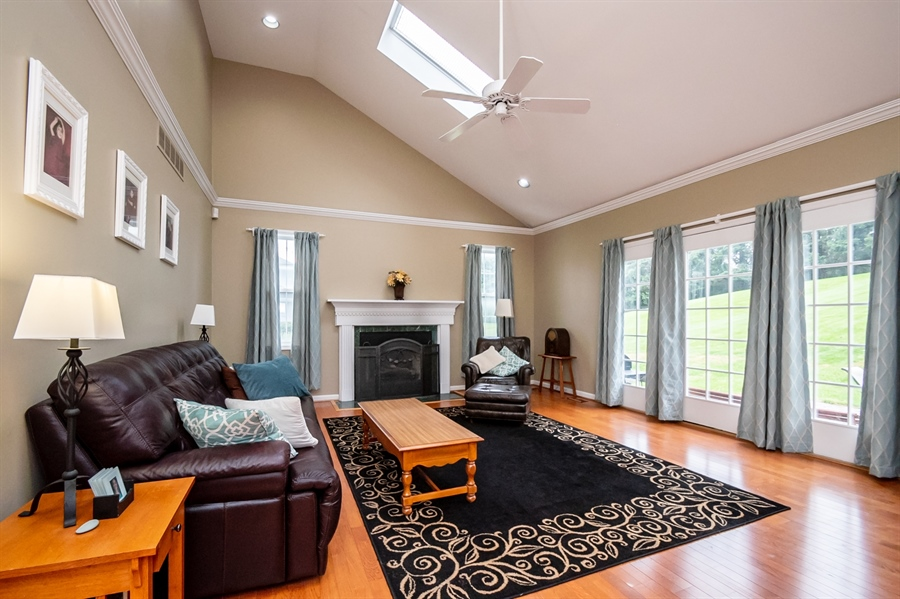 Real Estate Photography - 167 Ramunno Cir, Hockessin, DE, 19707 - Gorgeous Vaulted Family Room w Gas FPL