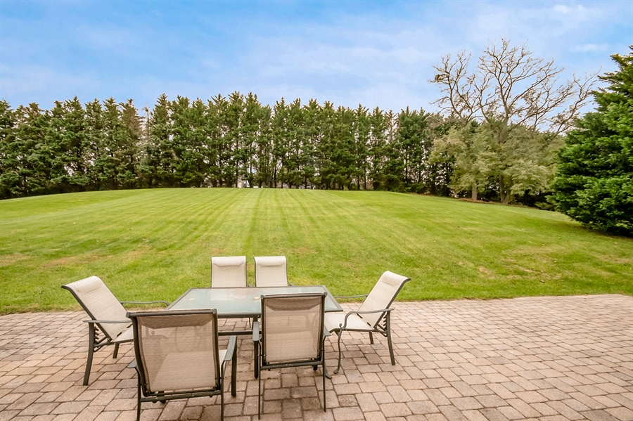 Real Estate Photography - 167 Ramunno Cir, Hockessin, DE, 19707 - Gorgeous Tree Lined Views on Paver Patio