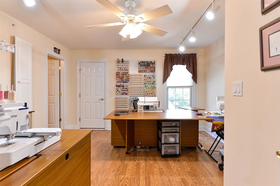 Real Estate Photography - 12 Briarcreek Ct, Newark, DE, 19711 - Sewing Room/BR 3, laminate flr, walk-in attic here