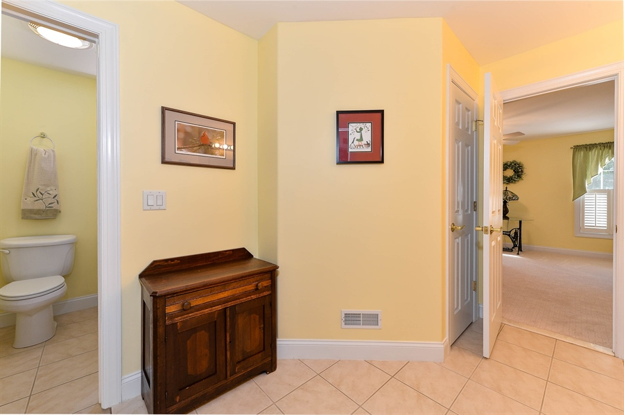 Real Estate Photography - 12 Briarcreek Ct, Newark, DE, 19711 - Door to shower and toilet in upstairs bath, too