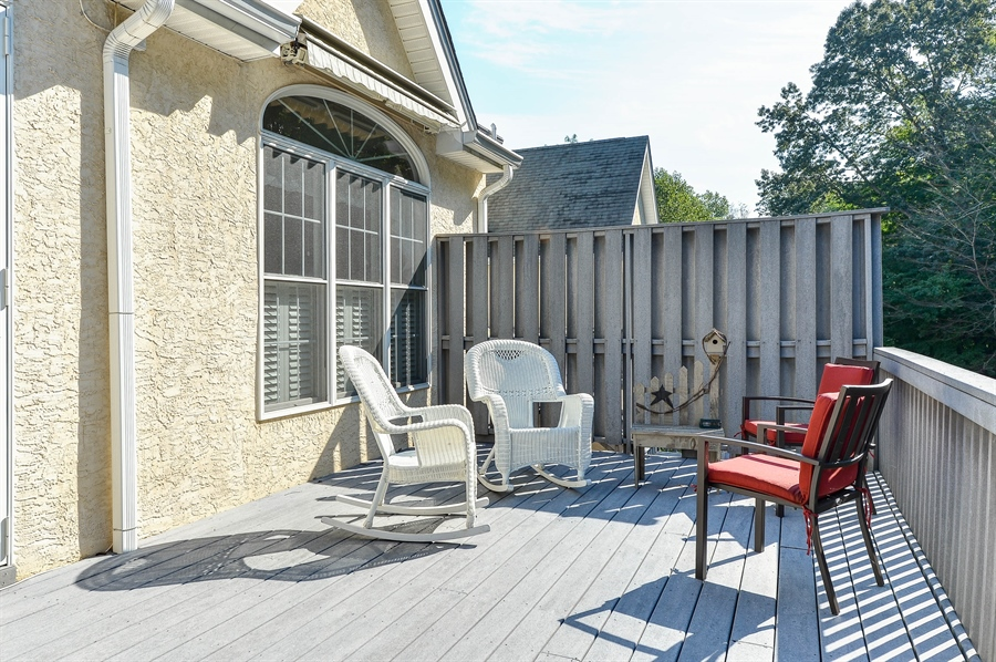 Real Estate Photography - 12 Briarcreek Ct, Newark, DE, 19711 - 25 x 12 composite deck with 2 retractable awnings