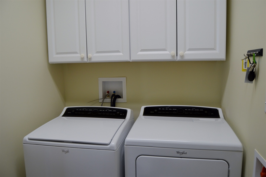 Real Estate Photography - 24593 Hollytree Cir, Georgetown, DE, 19947 - Washer & Dryer Included, laundry room