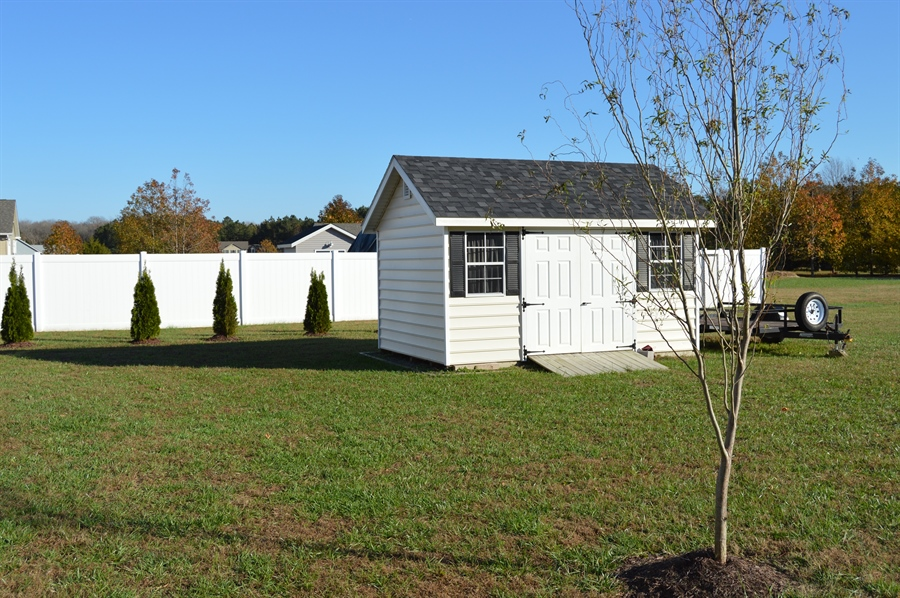 Real Estate Photography - 24593 Hollytree Cir, Georgetown, DE, 19947 - Shed is included!