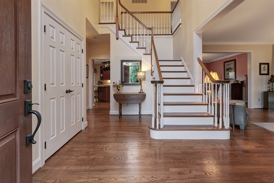Real Estate Photography - 219 S Pond Rd, Hockessin, DE, 19707 - Stunning Two Story Entrance Foyer