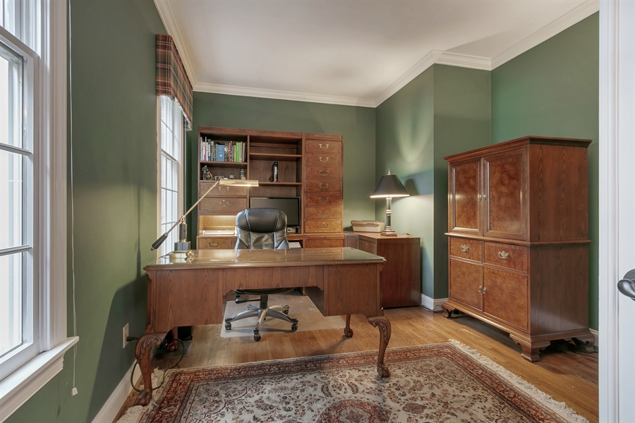 Real Estate Photography - 219 S Pond Rd, Hockessin, DE, 19707 - Handsome Study with Two Windows - Off Foyer
