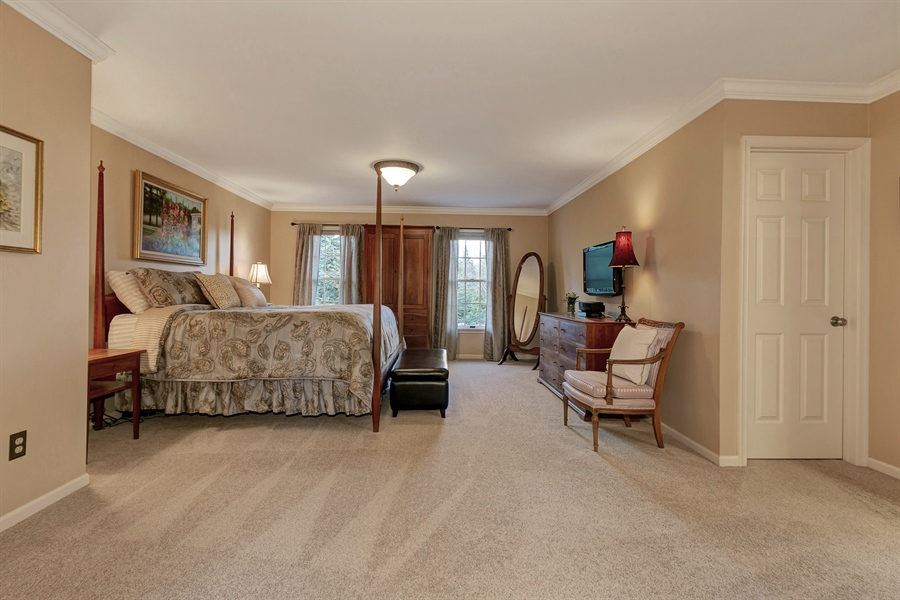 Real Estate Photography - 219 S Pond Rd, Hockessin, DE, 19707 - Serene and Spacious Master Bedroom
