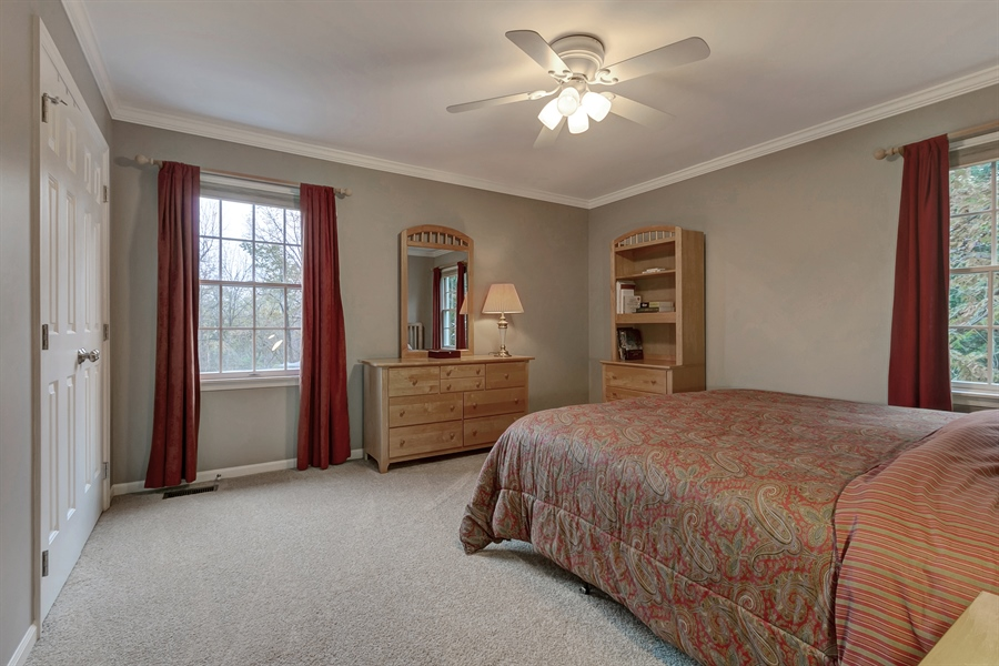 Real Estate Photography - 219 S Pond Rd, Hockessin, DE, 19707 - Spacious Third Bedroom w/Two Windows & New Carpet