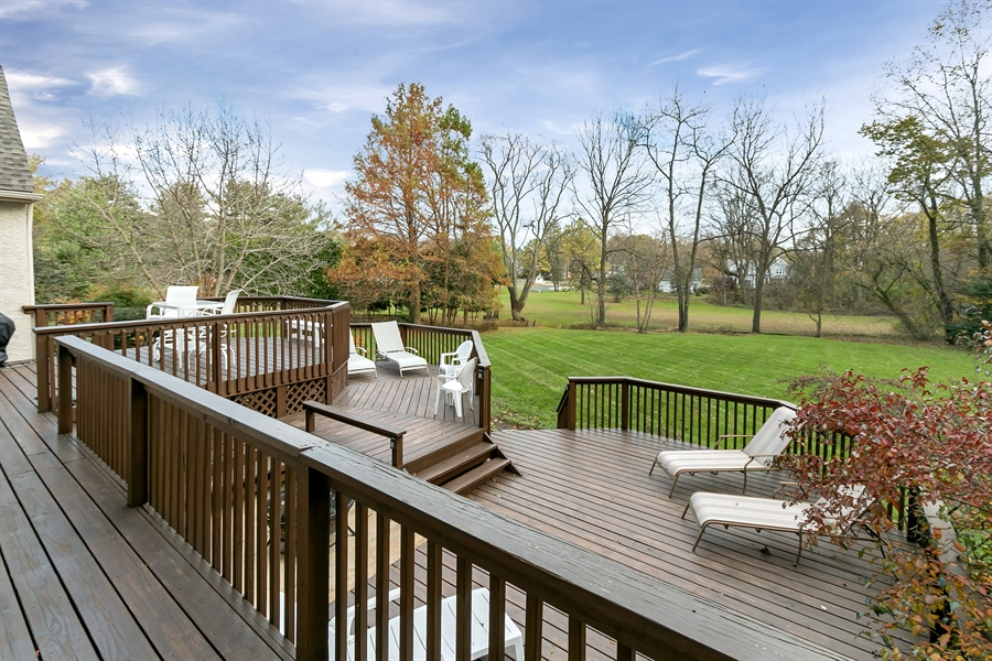 Real Estate Photography - 219 S Pond Rd, Hockessin, DE, 19707 - Oversized Three-Tiered Deck - Gorgeous Views