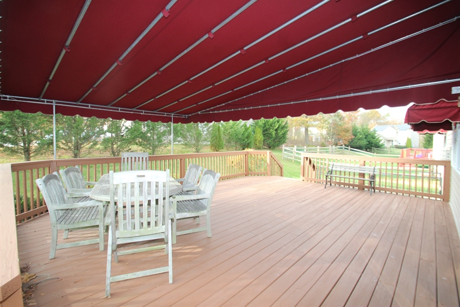 Real Estate Photography - 235 Thomas Jefferson Ter, Elkton, MD, 21921 - Deck with Awning