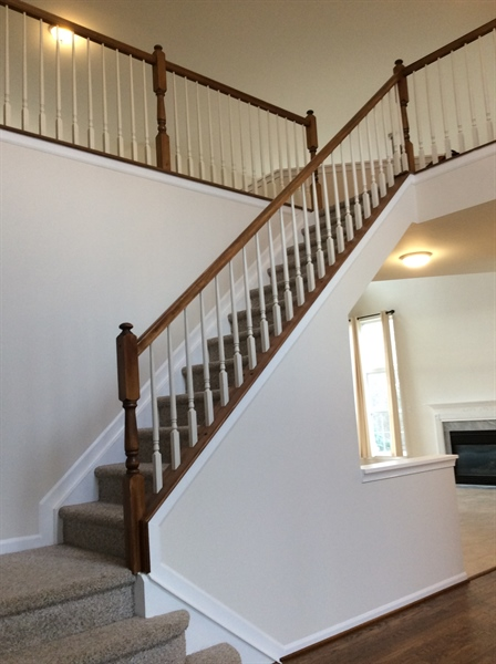 Real Estate Photography - 233 Hope Ct W, Bear, DE, 19701 - Foyer stairway leading to 2nd floot