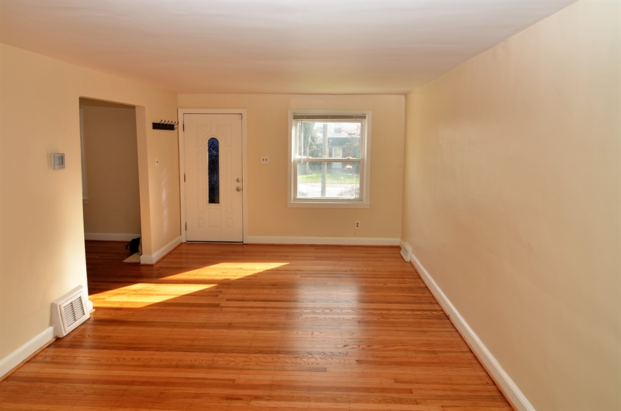 Real Estate Photography - 309 Taft Ave, Wilmington, DE, 19805 - Living Room with Hardwood Floors