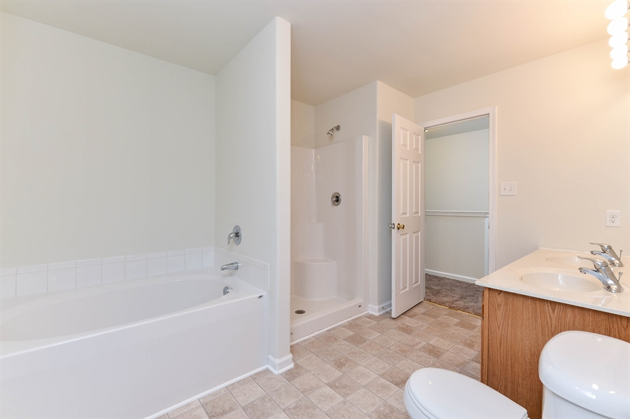 Real Estate Photography - 131 Ben Boulevard, Elkton, DE, 21921 - Soaking tub and separate shower