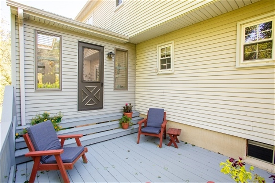 Real Estate Photography - 5 Signal Hill Dr, Hockessin, DE, 19707 - Deck off sunroom, just steps to hot tub