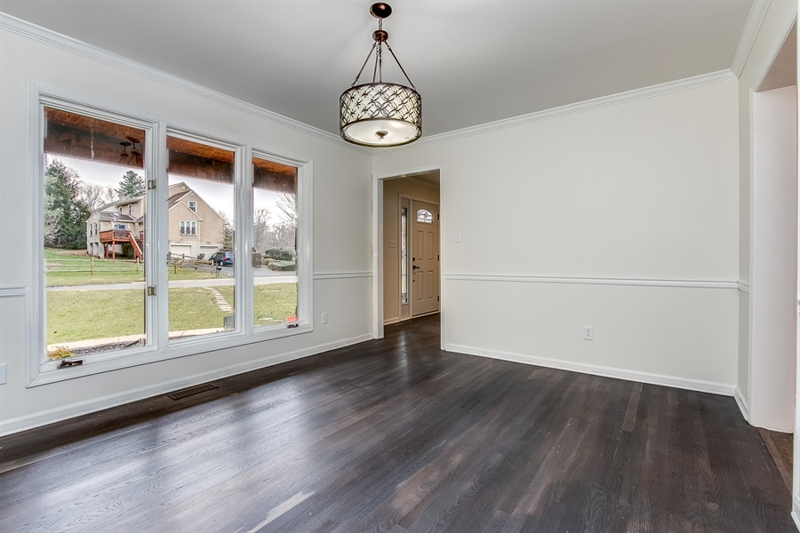 Real Estate Photography - 227 Hawkes Ct, Hockessin, DE, 19707 - Dining Room with Hardwood Floors