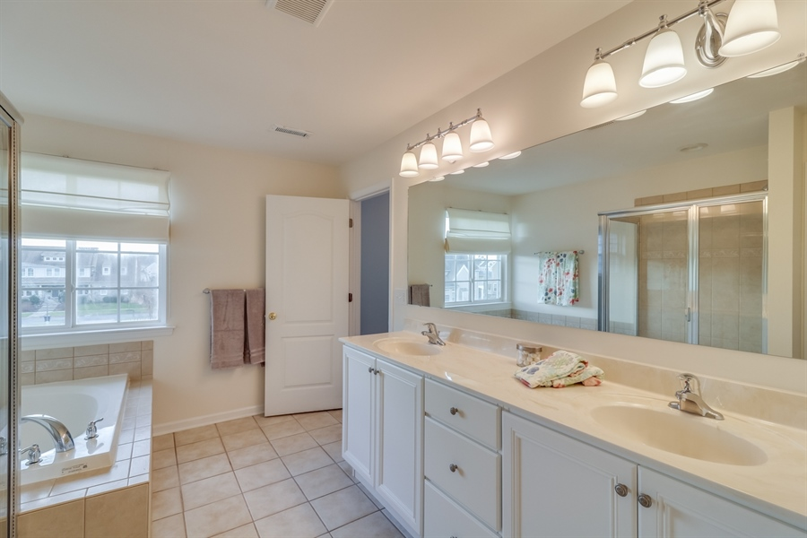 Real Estate Photography - 245 Wickerberry Dr, Middletown, DE, 19709 - Master bathroom