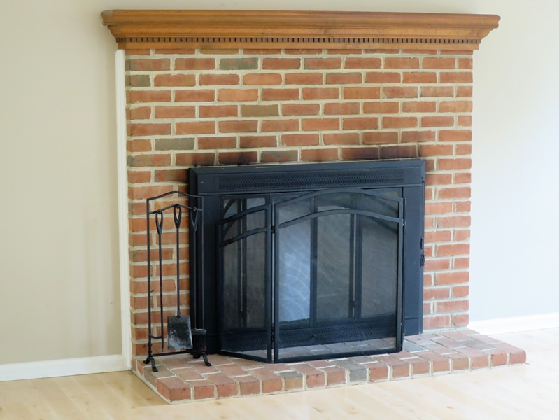 Real Estate Photography - 133 Meetinghouse Ln, Dover, DE, 19904 - Classic brick wood burning fireplace