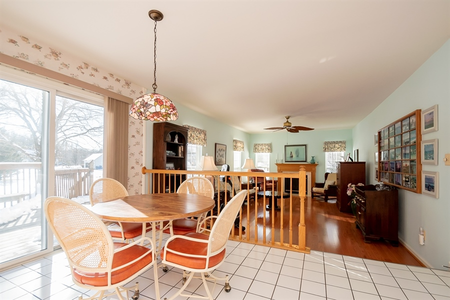 Real Estate Photography - 340 Jessica Dr, Middletown, DE, 19709 - Breakfast Area Leads to Deck