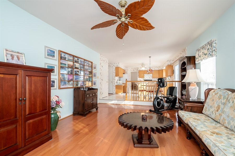 Real Estate Photography - 340 Jessica Dr, Middletown, DE, 19709 - Family Room Open to Kitchen