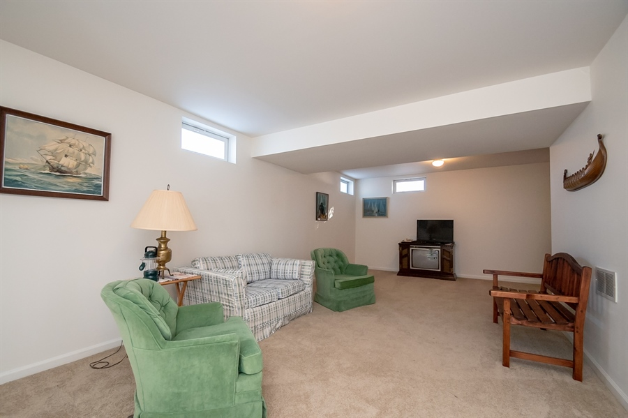 Real Estate Photography - 340 Jessica Dr, Middletown, DE, 19709 - Plenty of space- Lower Level Rec Room