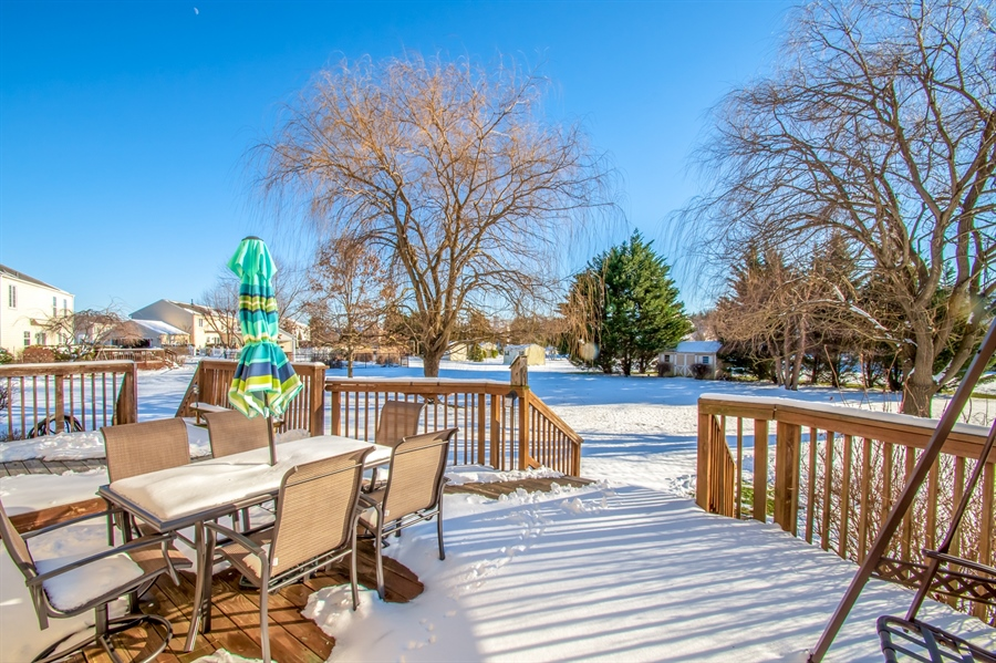 Real Estate Photography - 340 Jessica Dr, Middletown, DE, 19709 - Two Tiered Wood Deck