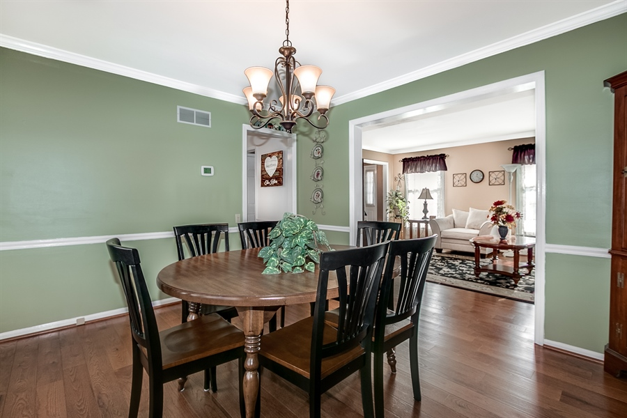 Real Estate Photography - 307 Charleston Dr, Wilmington, DE, 19808 - Hardwood Flooring in Dining Room