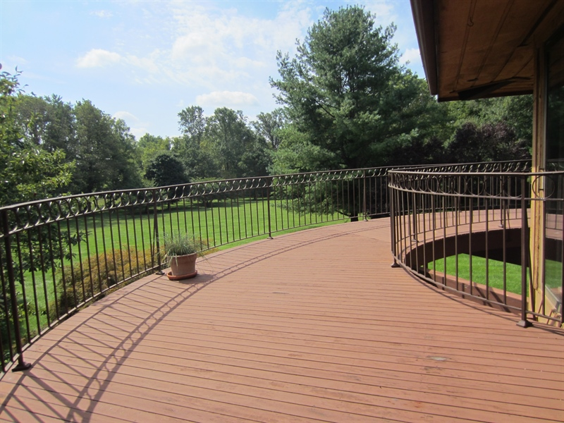 Real Estate Photography - 465 Polly Drummond Hill Rd, Newark, DE, 19711 - Wrap around raised deck