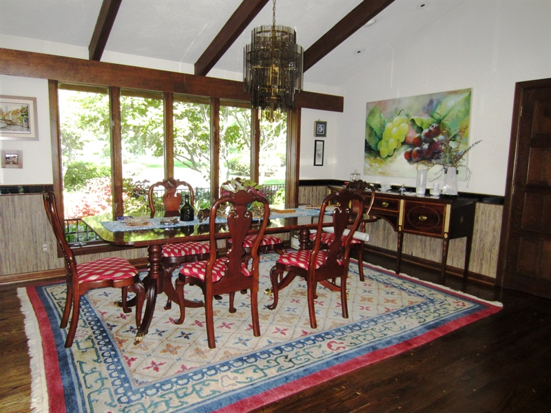 Real Estate Photography - 465 Polly Drummond Hill Rd, Newark, DE, 19711 - Separate dining room with vaulted ceiling