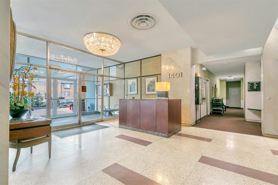 Real Estate Photography - 1401 Pennsylvania Avenue #1414, 1414, Wilmington, DE, 19806 - Desk Area in the Lobby.