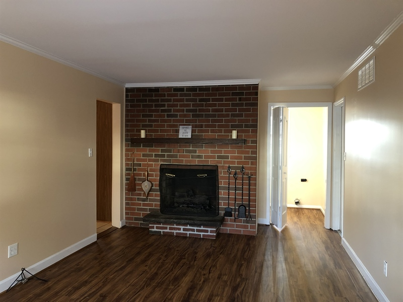 Real Estate Photography - 16 Candate Ct, Newark, DE, 19711 - Family room alternate view w/ brick fireplace