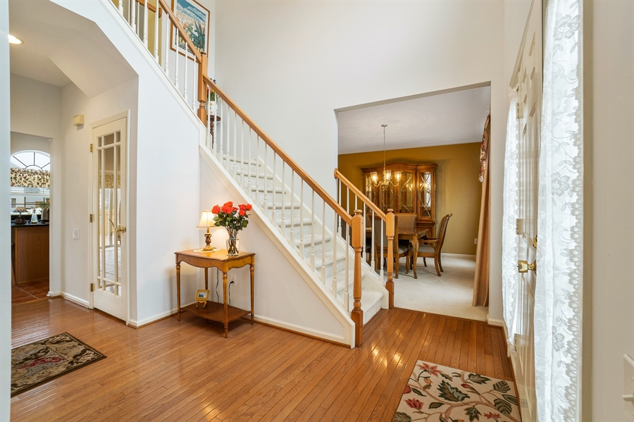 Real Estate Photography - 14 Dearborn Ln, Bear, DE, 19701 - Dramatic Entry w/Turned Staircase