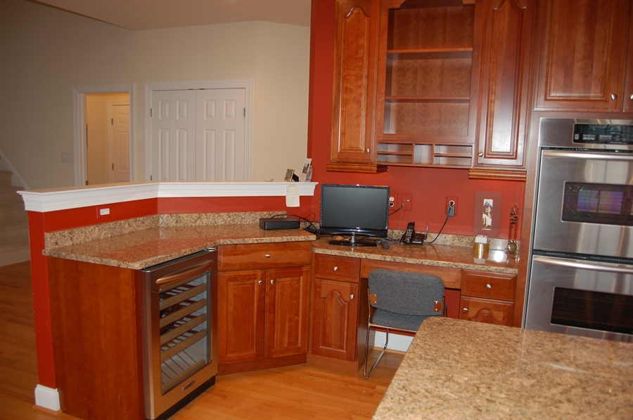 Real Estate Photography - 135 Portmarnock Dr, Avondale, PA, 19311 - Desk Area and Wine Cooler