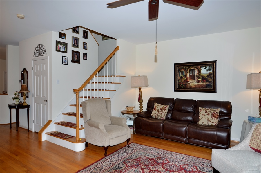 Real Estate Photography - 116 Gregg Dr, Wilmington, DE, 19808 - Living Room with Hardwood Floors