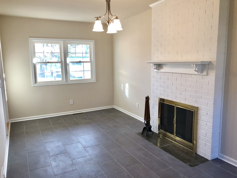 Real Estate Photography - 2211 Charwood Dr, Wilmington, DE, 19810 - Wood Burning Fireplace