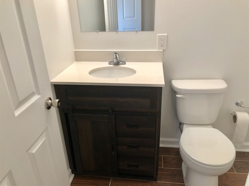Real Estate Photography - 2211 Charwood Dr, Wilmington, DE, 19810 - Nice Matching Tile and Vanity