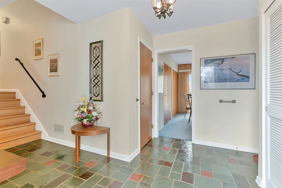 Real Estate Photography - 265 Pond Dr, Hockessin, DE, 19707 - Gorgeous slate entry foyer
