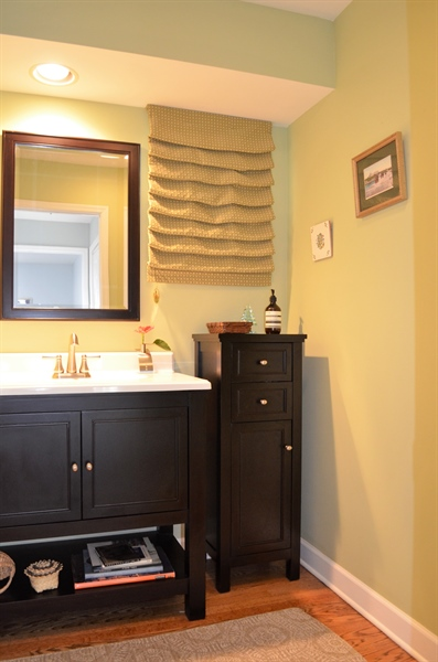 Real Estate Photography - 1 Caynor Ct, Newark, DE, 19711 - New Powder Room (Cabinet Included)