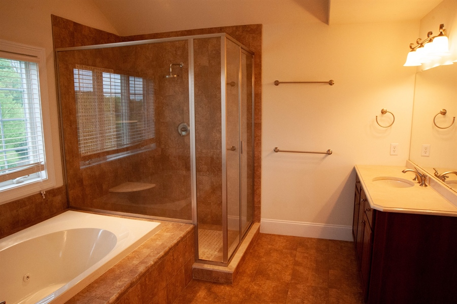 Real Estate Photography - 102 Wyndham Hill Dr, Kennett Square, PA, 19348 - MBR Bathroom