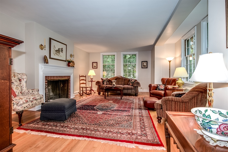 Real Estate Photography - 3202 Swarthmore Rd, Wilmington, DE, 19807 - Family Room with Fireplace