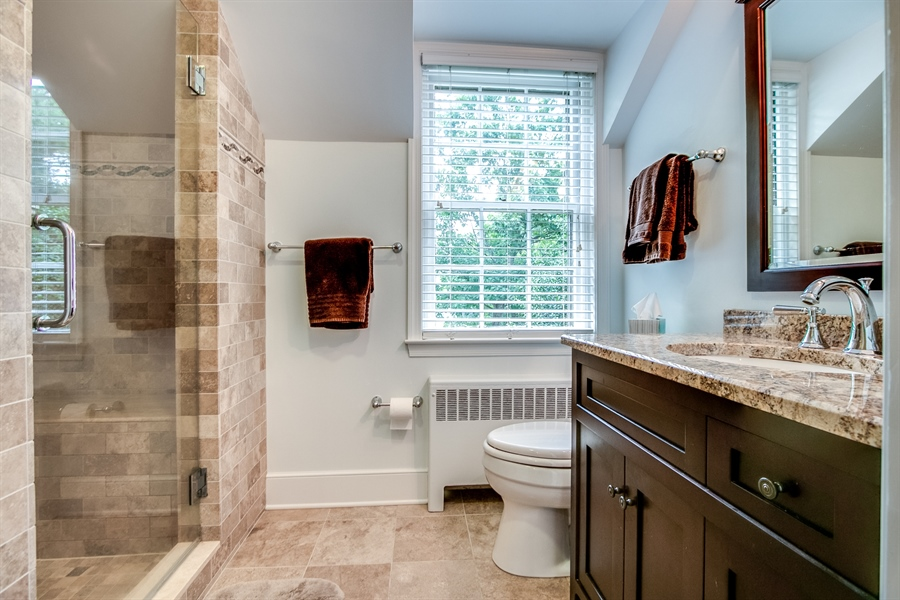 Real Estate Photography - 3202 Swarthmore Rd, Wilmington, DE, 19807 - Updated Master Bath
