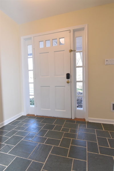 Real Estate Photography - 2 Galaxy Dr, Newark, DE, 19711 - Foyer with slate tile