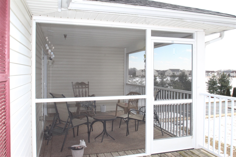 Real Estate Photography - 1860 Congressional Village Drive #6303, 6303, Middletown, DE, 19709 - Screened Porch