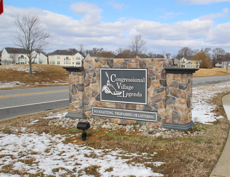 Real Estate Photography - 1860 Congressional Village Drive #6303, 6303, Middletown, DE, 19709 - Entrance Sign to Congressional Village at The Lege