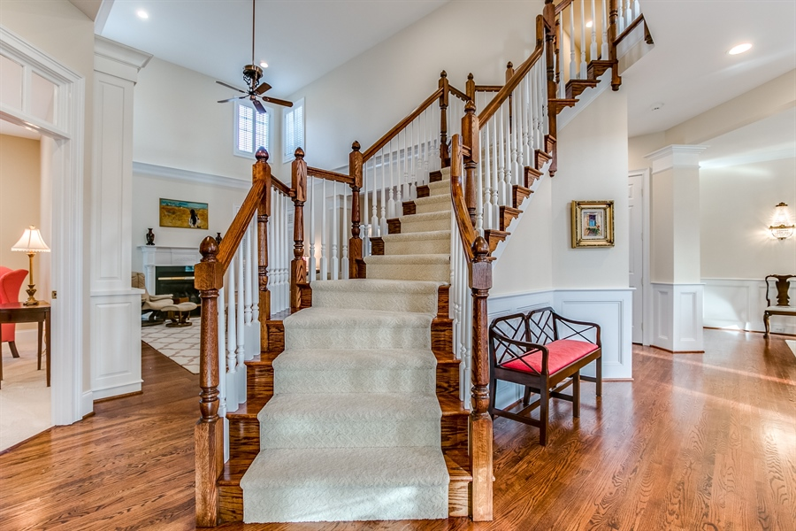 Real Estate Photography - 400 Woodale Dr, Kennett Square, PA, 19348 - Stunning Staircase