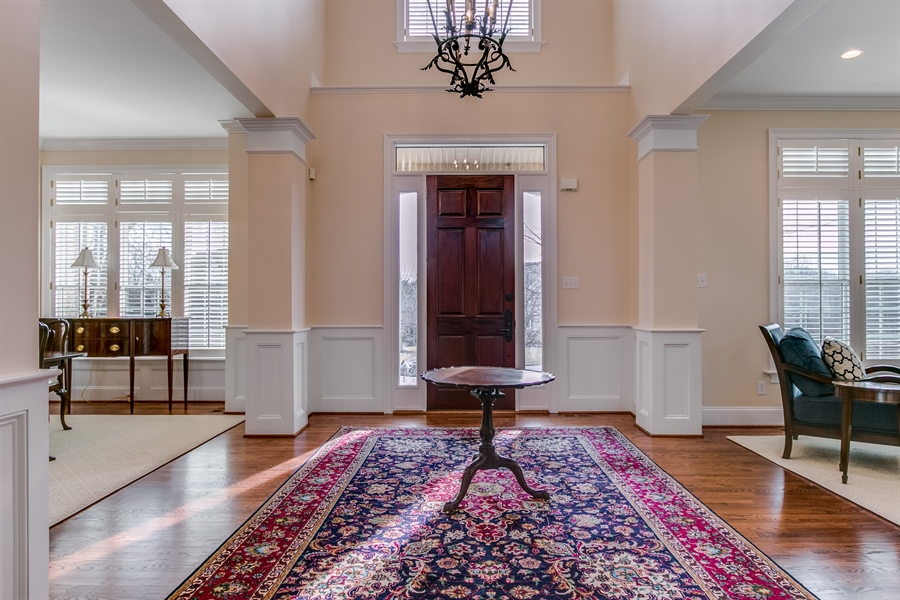 Real Estate Photography - 400 Woodale Dr, Kennett Square, PA, 19348 - Entrance Hall open to Dining and Living Rooms