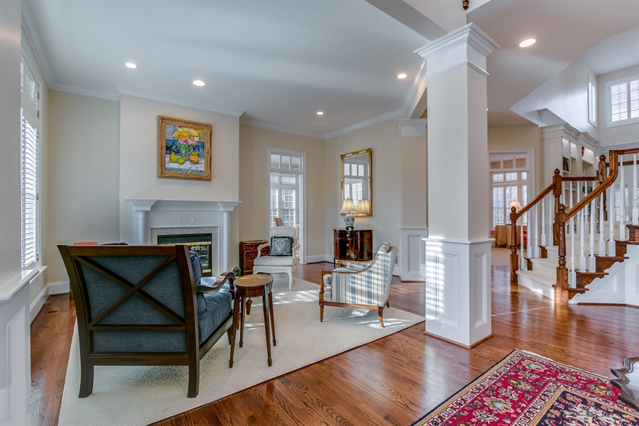 Real Estate Photography - 400 Woodale Dr, Kennett Square, PA, 19348 - Living Room with Fireplace