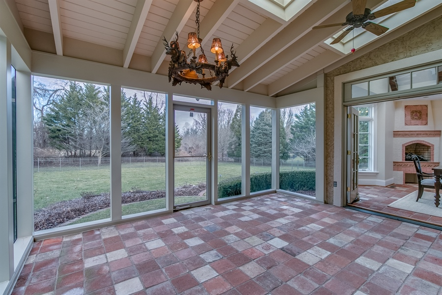 Real Estate Photography - 400 Woodale Dr, Kennett Square, PA, 19348 - Screened Porch with Skylights and Ceiling Fans