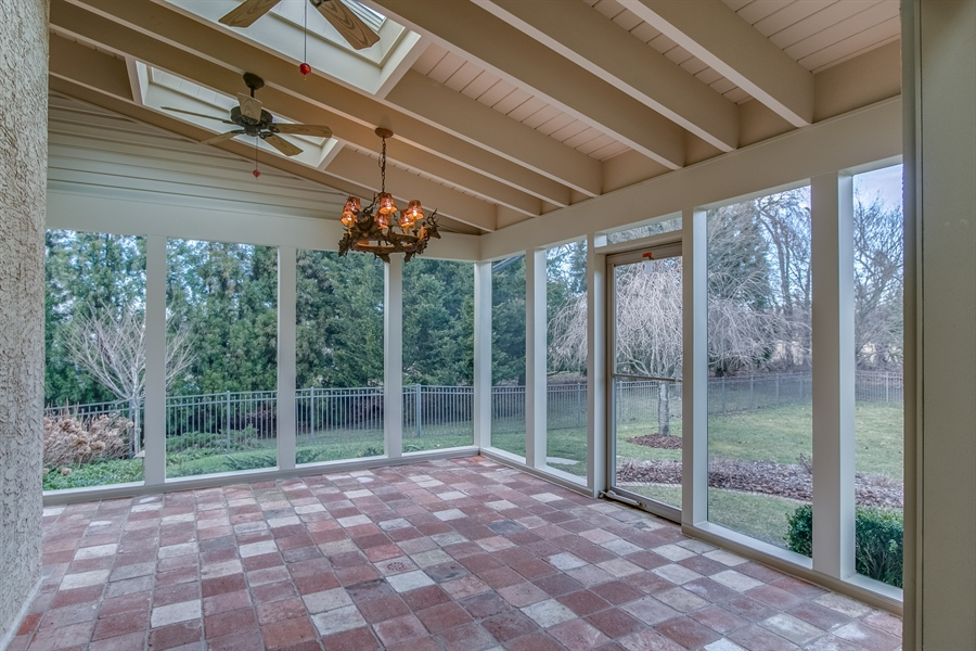 Real Estate Photography - 400 Woodale Dr, Kennett Square, PA, 19348 - Screened Porch Overlooking Rear Yard