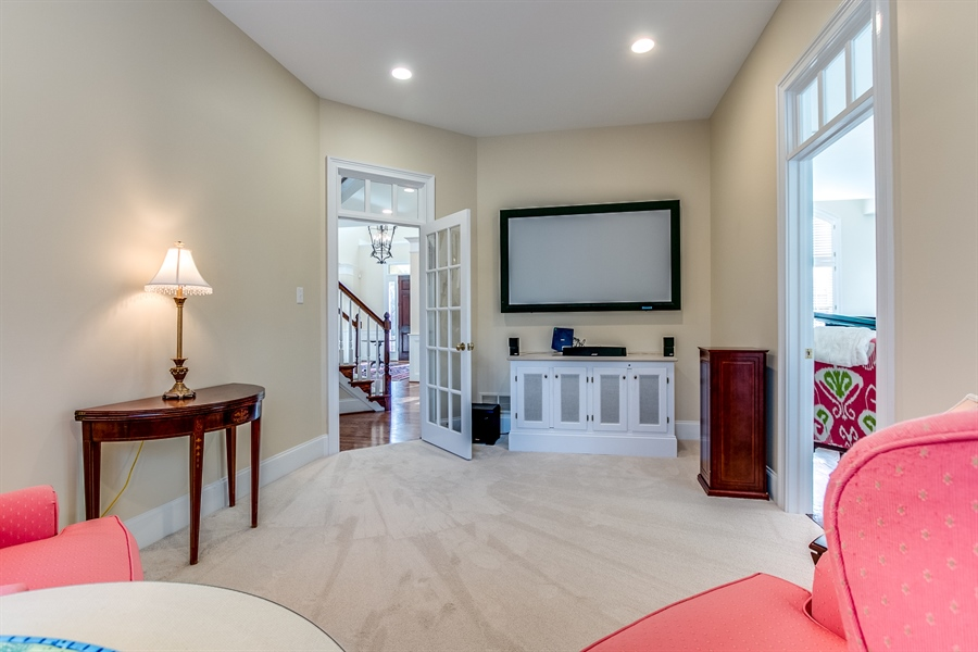 Real Estate Photography - 400 Woodale Dr, Kennett Square, PA, 19348 - Media Room